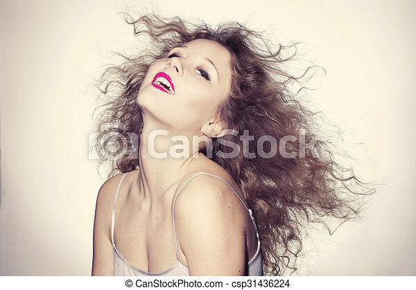 beautiful young woman - csp31436224