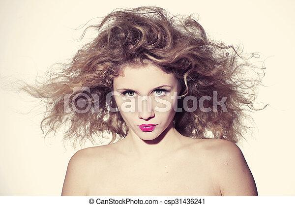 beautiful young woman - csp31436241