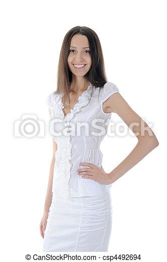beautiful young woman - csp4492694