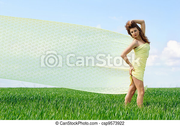 Beautiful young woman - csp9573922
