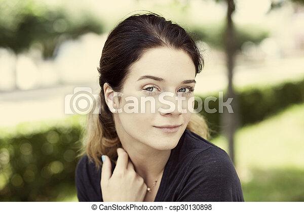 Beautiful young woman  - csp30130898