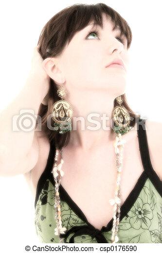 Beautiful Young Woman - csp0176590