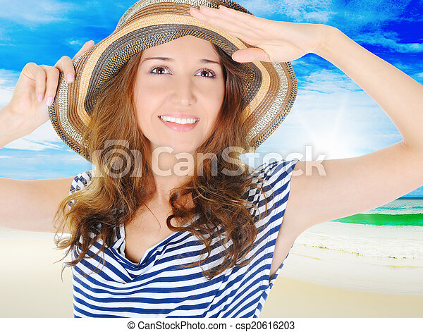 beautiful young woman - csp20616203