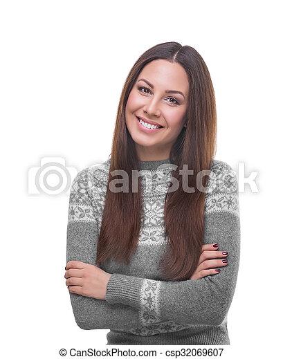 Beautiful young woman. - csp32069607