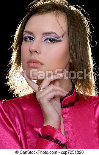 beautiful young woman - csp7251820