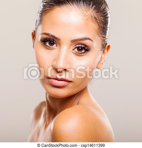 beautiful young woman with clean skin - csp14611399