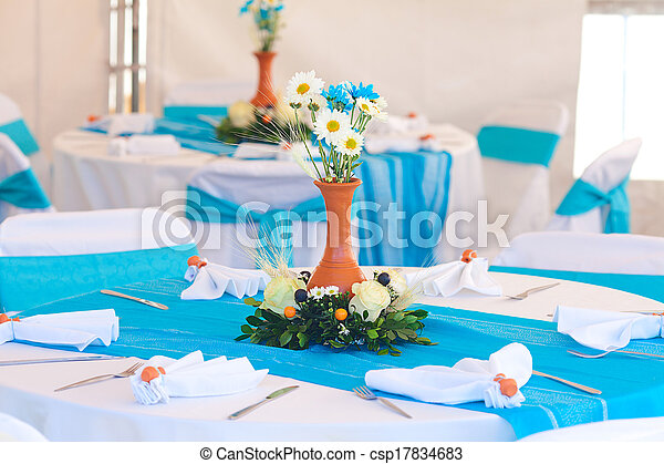 beautifully decorated banquet table - csp17834683