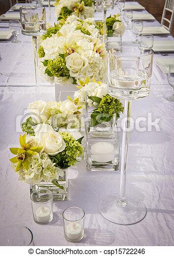 Beautifully Decorated Wedding Venue - csp15722246
