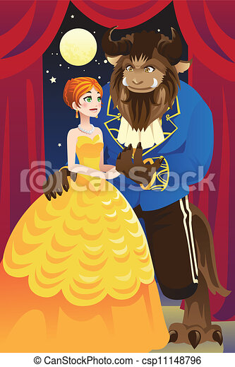 Beauty And The Beast Vector