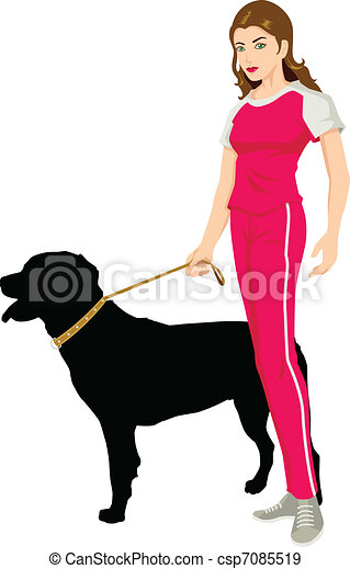 Beauty And The Rottweiler - csp7085519