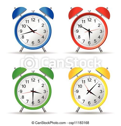 beauty clock vector illustration - csp11183168