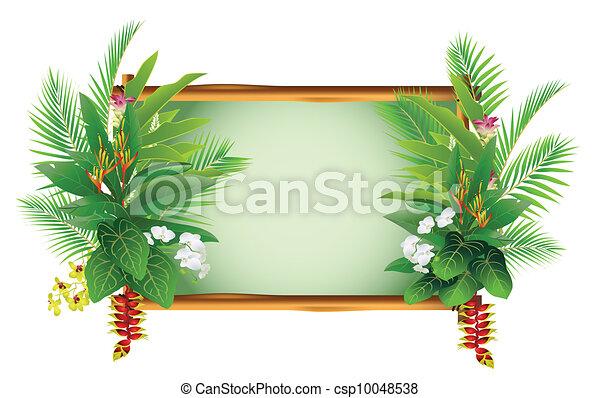 beauty decorating tropical plants - csp10048538