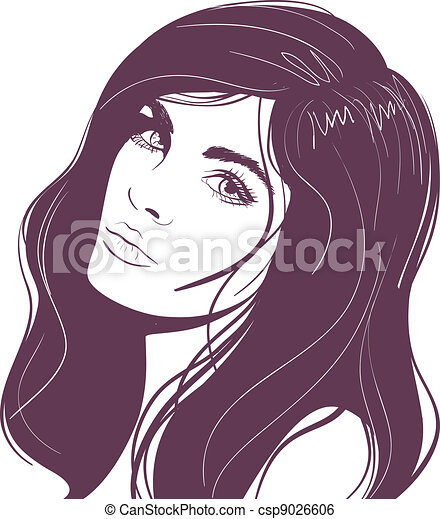 beauty face girl portrait - csp9026606