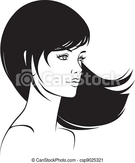 beauty  face girl portrait  - csp9025321