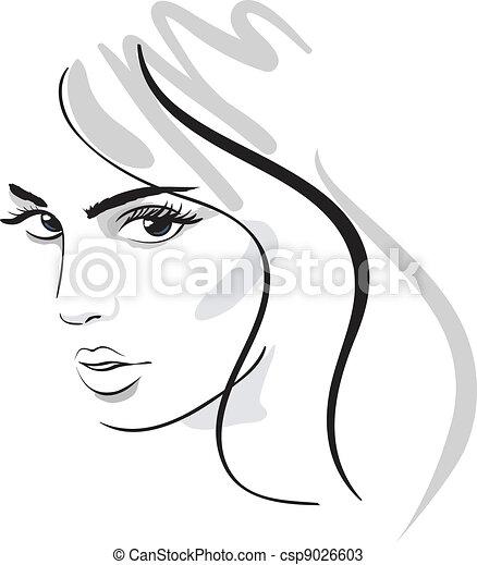 beauty girl face - csp9026603