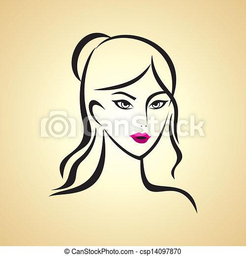 beauty  girl face - csp14097870