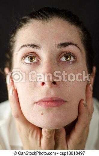 Beauty green eyed woman - csp13018497