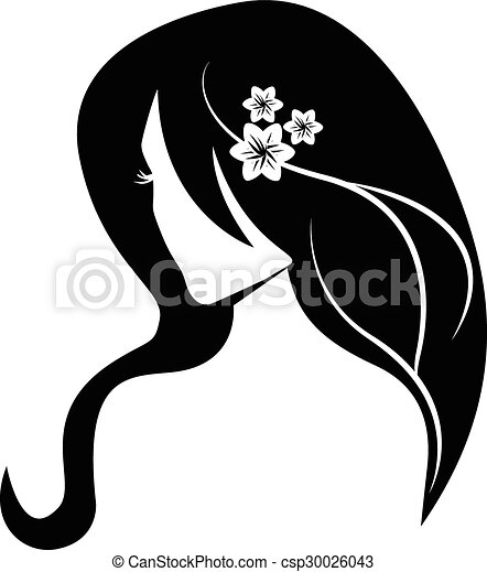 Beauty hair girl logo - csp30026043