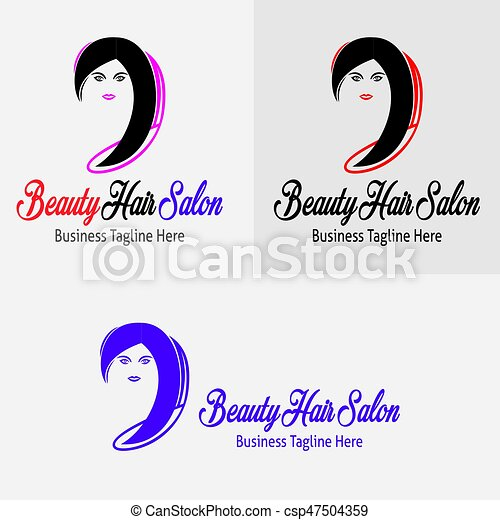 Beauty Hair Salon Logo