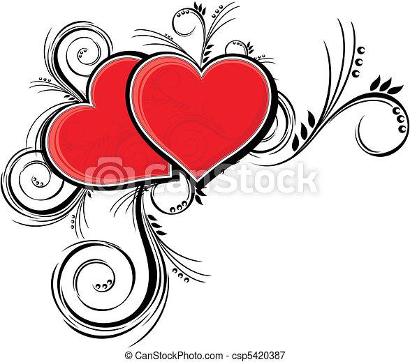 beauty hearts - csp5420387