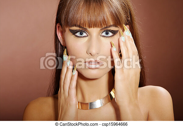 Beauty In Cleopatra Style Stock Photo