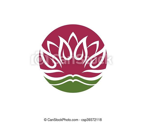 beauty lotus logo template beauty vector lotus flowers design logo