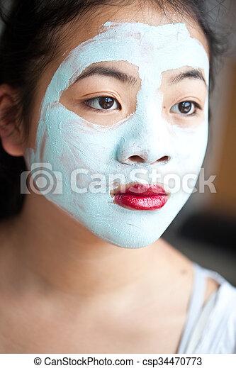 beauty mask - csp34470773
