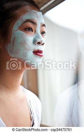 beauty mask - csp34470761