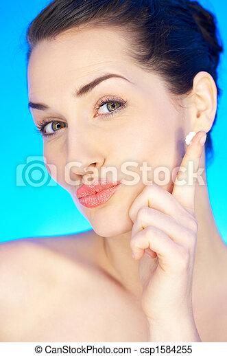 Beauty on Blue - csp1584255