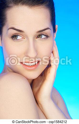 Beauty on Blue - csp1584212