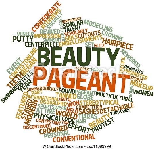Beauty Pageant Stock Illustration