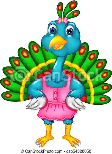 vector illustration of beauty peacock cartoon posing with laughing https www canstockphoto com beauty peacock cartoon posing with 54328058 html