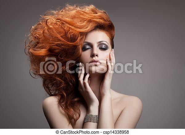 Beauty Portrait. Hairstyle - csp14338958