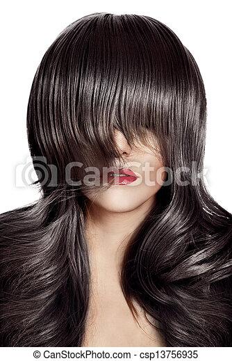 Beauty Portrait. Healthy Long Hair. - csp13756935
