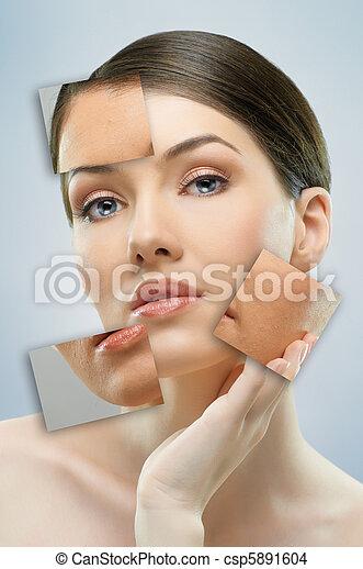 beauty portrait - csp5891604
