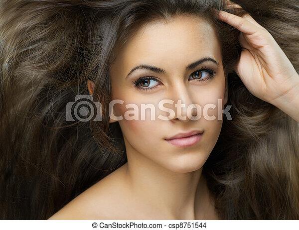 beauty portrait - csp8751544