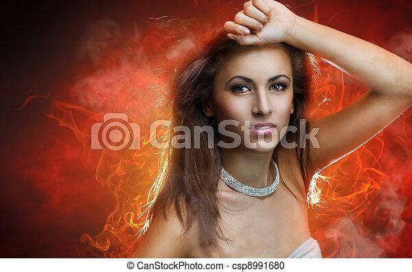 beauty portrait - csp8991680