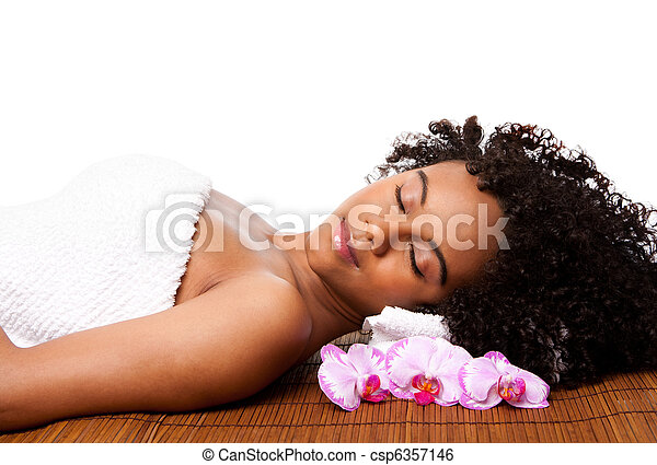 Beauty relaxation at spa - csp6357146