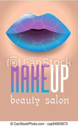 Beauty Salon 4 Banner For A Beauty Salon In The Form Of A Makeup Colorful Womens Lips For A Holiday Carnival Concept For