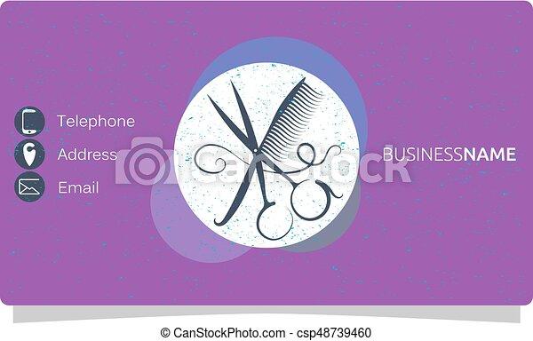 Beauty salon business card comb and scissors beauty salon business card csp48739460 colourmoves