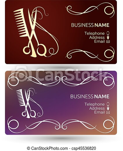 Beauty salon business card template beauty salon and hairdresser beauty salon business card template csp45536820 accmission Choice Image