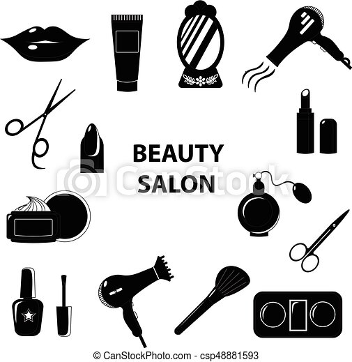 Beauty Salon Set Of Flat Cartoon Icons Business Vector Illustration Beauty Salon Set Of Flat Cartoon Icons Business