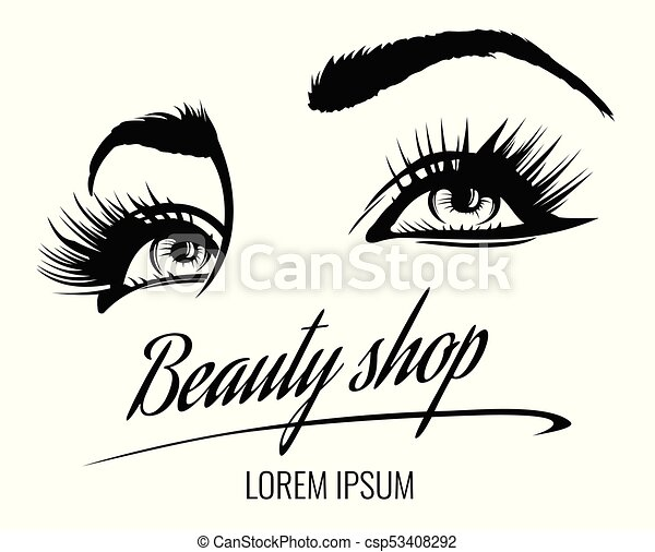 Beauty Salon Vector Poster With Eyes Eyelashes And Eyebrow Of Beautiful Woman Beauty Makeup Eyes Fashion Female Face On
