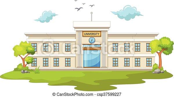beauty university cartoon - csp37599227