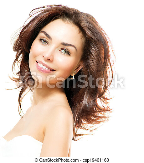 Beauty Woman. Beautiful Young Female Portrait - csp19461160