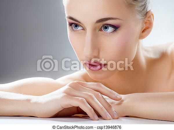 beauty woman - csp13946876