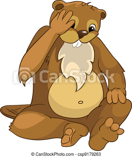 "Beaver CREES. Look for Funny Beaver by Keyword ""CREES"". - csp9179263"