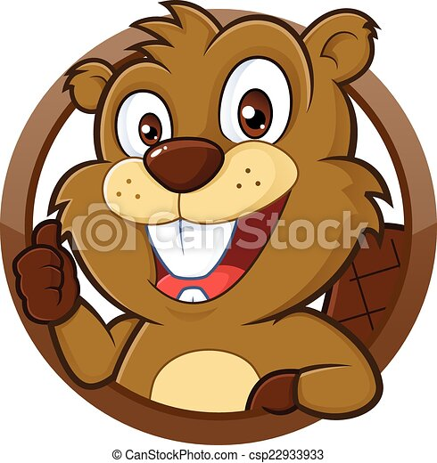 Beaver giving thumb up - csp22933933