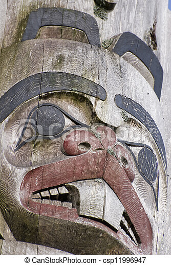 Haida box with lid with beautiful carvings catawiki