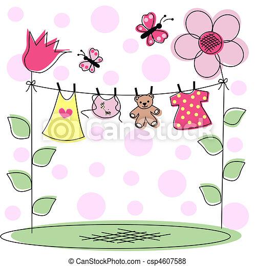 bebé, anuncio - csp4607588